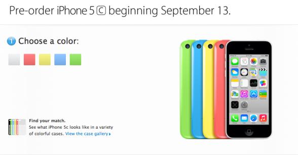 iPhone 5C pre ordine