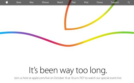 apple event ottobre 2014